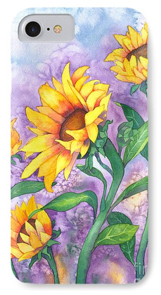 Sunny Sunflowers IPhone Case by Kristen Fox