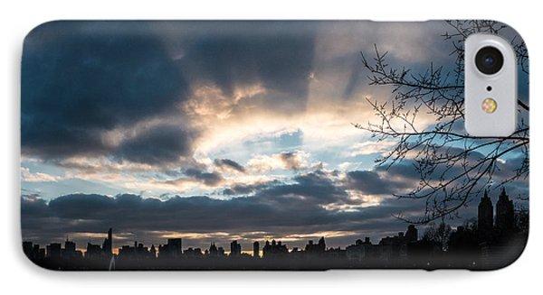 Sunrays Over Manhattan IPhone Case