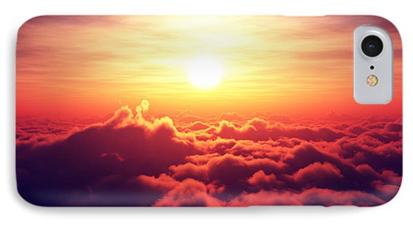 Sunrise Above The Clouds IPhone Case by Johan Swanepoel