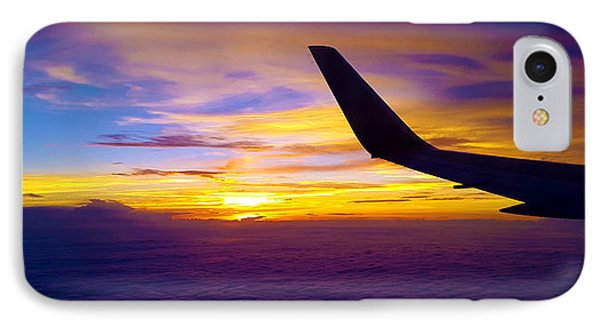 Sunrise Above The Clouds IPhone Case by Judi Saunders