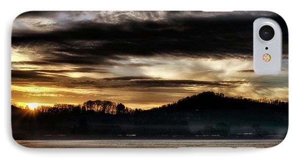 IPhone Case featuring the photograph Sunrise And Hay Bales by Thomas R Fletcher
