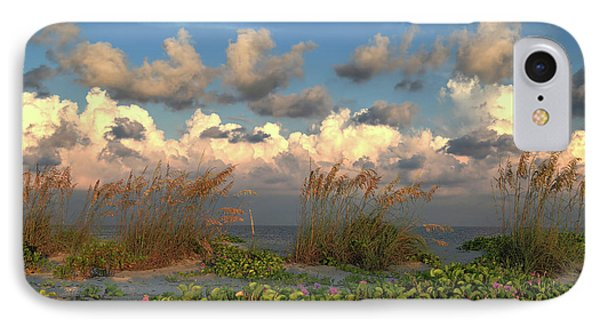 IPhone Case featuring the photograph Sunrise And Sea Oats by Donna Kennedy