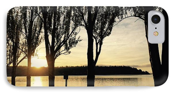 Sunrise And Silhouettes  IPhone Case