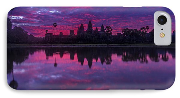 Sunrise Angkor Wat Reflection IPhone Case