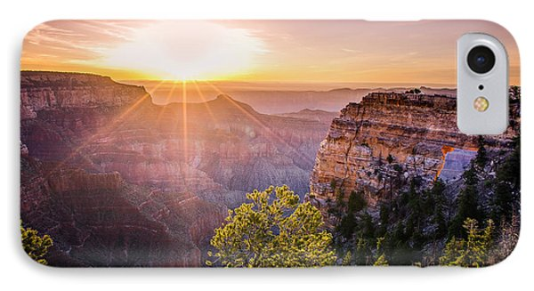 Sunrise At Angel's Window Grand Canyon IPhone Case by Scott McGuire