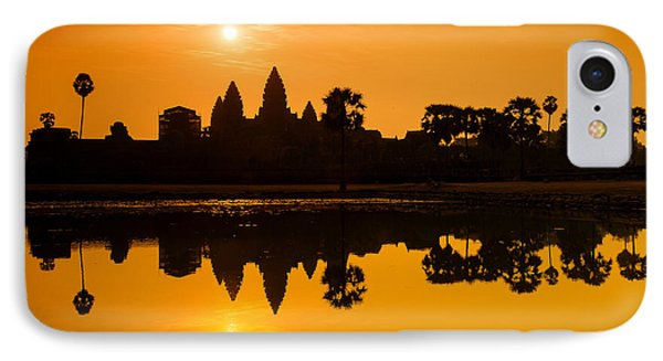 IPhone Case featuring the photograph Sunrise At Angkor Wat by Yew Kwang