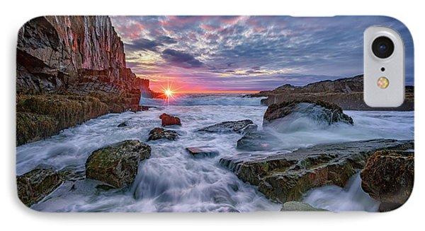 Sunrise At Bald Head Cliff IPhone Case by Rick Berk