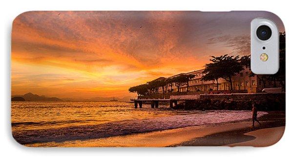 Sunrise At Copacabana Beach Rio De Janeiro IPhone Case