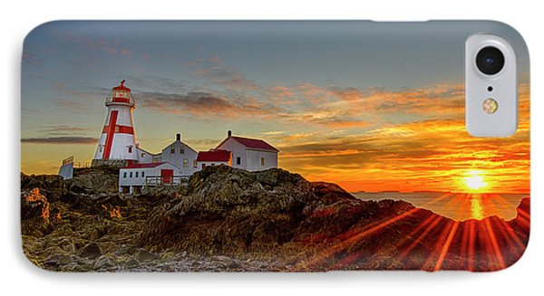 Sunrise At Head Harbor Lighthouse IPhone Case by Lee Kappel