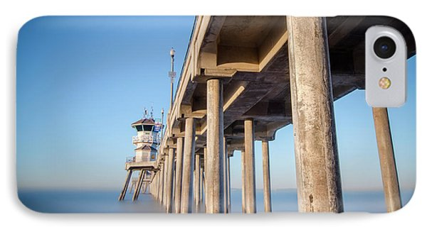 Sunrise At Huntington Beach Pier IPhone Case by Sean Foster