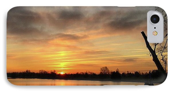 Sunrise At Jacobson Lake IPhone Case by Sumoflam Photography