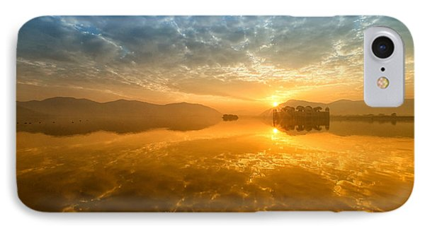 Sunrise At Jal Mahal IPhone Case by Yew Kwang