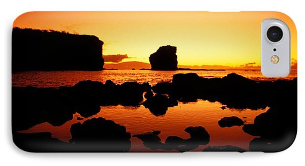 Sunrise At Puu Pehe Phone Case by Ron Dahlquist - Printscapes