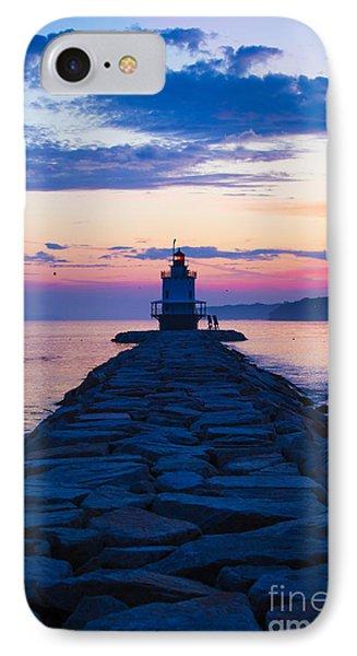 Sunrise At Spring Point Light Maine IPhone Case