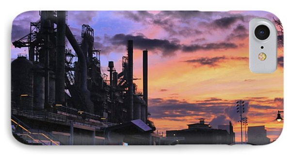 IPhone Case featuring the photograph Sunrise At Steelstacks by DJ Florek
