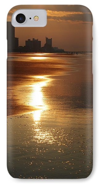 Sunrise At The Beach IPhone Case by Eric Liller