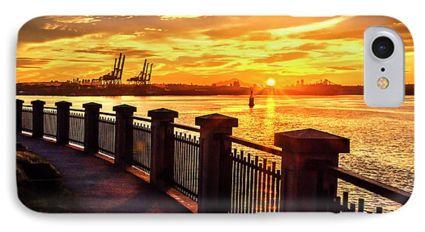 IPhone Case featuring the photograph Sunrise At The Harbor by John Poon