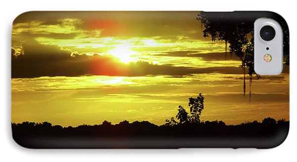 Sunrise At The Lake IPhone Case by D Hackett
