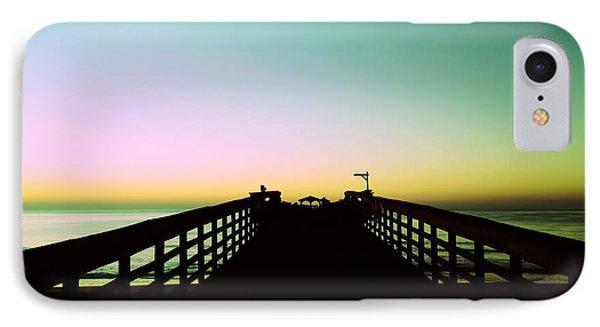 Sunrise At The Myrtle Beach State Park Pier In South Carolina Us IPhone Case by Vizual Studio