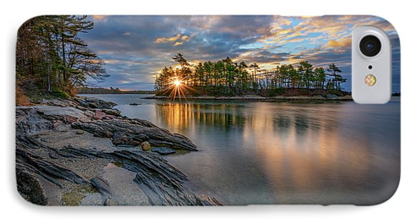 Sunrise At Wolfe's Neck Woods IPhone Case by Rick Berk