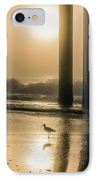 IPhone Case featuring the photograph Sunrise Bird At Beach  by John McGraw