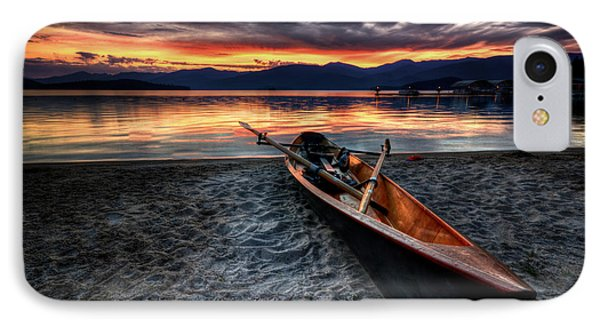 Boat iPhone 7 Case - Sunrise Boat by Matt Hanson