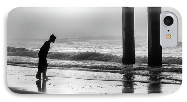 IPhone Case featuring the photograph Sunrise Boy In Foggy Beach by John McGraw