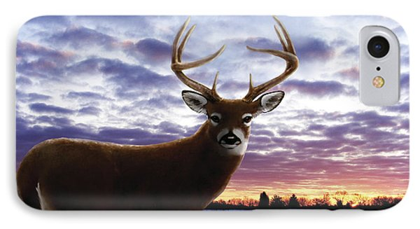 Sunrise Buck Phone Case by Barbara Hymer