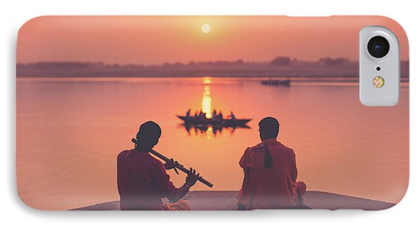 Sunrise By The Ganges Phone Case by Marji Lang