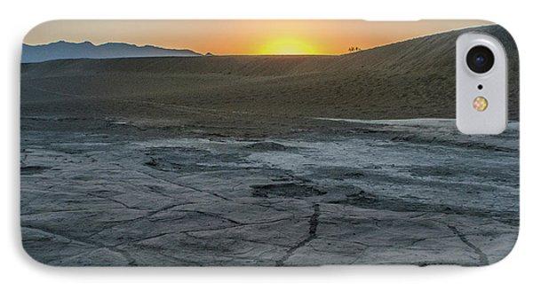 Sunrise Death Valley National Park Mesquite Flat Sand Dunes IPhone Case by Timothy Kleszczewski