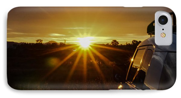 IPhone Case featuring the photograph Sunrise And My Ride by Jeremy McKay