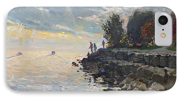 Shore iPhone 7 Case - Sunrise Fishing by Ylli Haruni