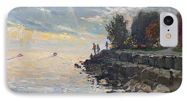 Sunrise Fishing IPhone Case by Ylli Haruni
