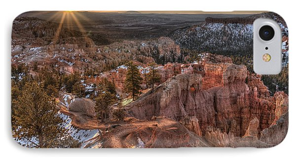 Sunrise In Bryce Canyon IPhone Case by Wendell Thompson