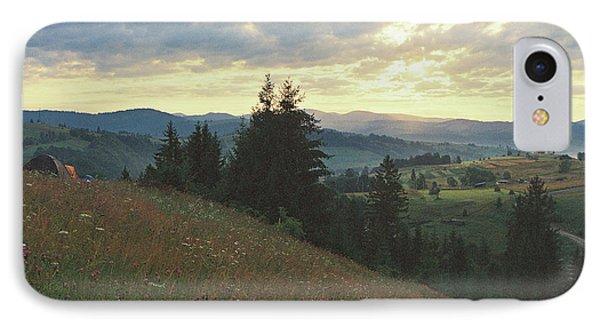 Sunrise In Carpathian Mountains IPhone Case by Anton Popov