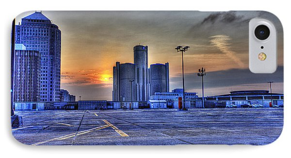 Sunrise In Detroit Mi IPhone Case by Nicholas  Grunas