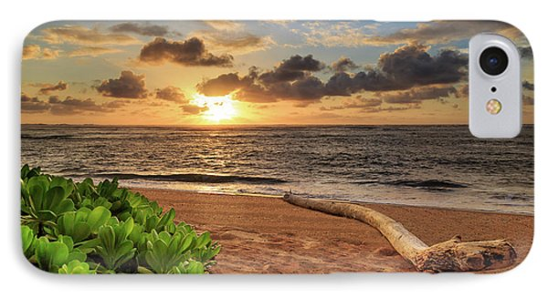 IPhone Case featuring the photograph Sunrise In Kapaa by James Eddy