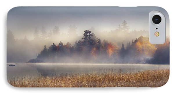 Boat iPhone 7 Case - Sunrise In Lake Placid  by Magda  Bognar