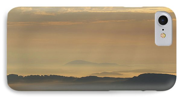 Sunrise In The Mountains - Hills In Morning Mist IPhone Case by Michal Boubin