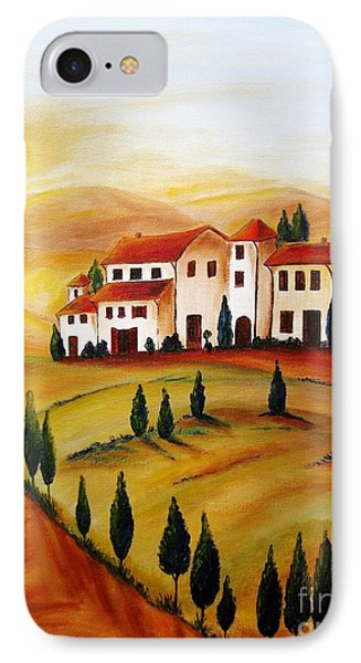 Sunrise In Tuscany Phone Case by Christine Huwer