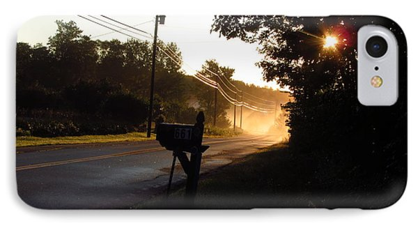 Sunrise On A Country Road IPhone Case