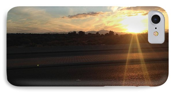 Sunrise On Asphalt IPhone Case