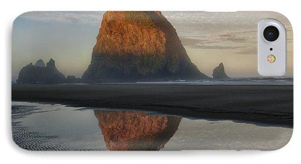 Sunrise On Haystack Rock - Oregon IPhone Case by Sandra Bronstein