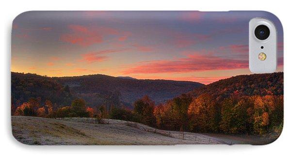 IPhone Case featuring the photograph Sunrise On Jenne Farm - Vermont Autumn by Joann Vitali