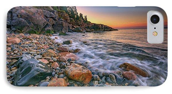 Sunrise On Little Hunters Beach IPhone Case by Rick Berk