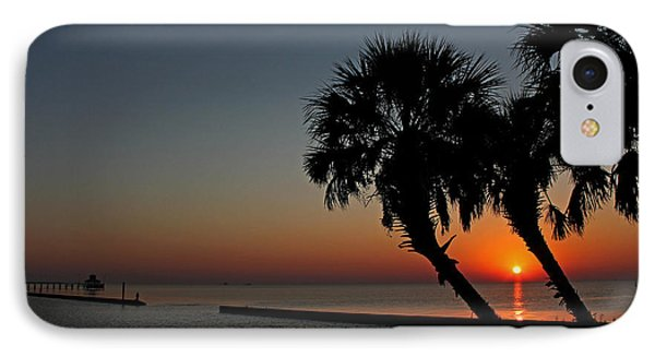 IPhone Case featuring the photograph Sunrise On Pleasure Island by Judy Vincent