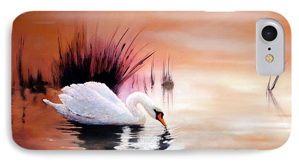 Sunrise On Swan Lake IPhone Case by Michael Rock