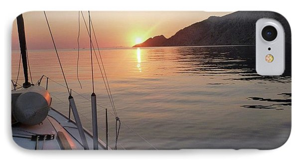 Sunrise On The Aegean IPhone Case by Christin Brodie