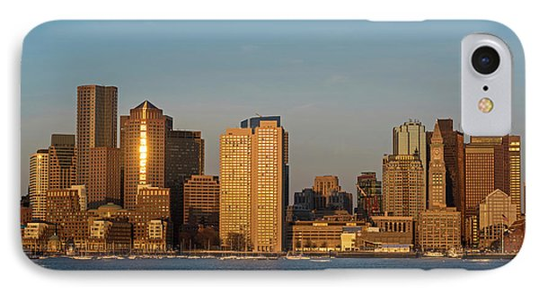 Sunrise On The Boston Skyline View From East Boston IPhone Case by Toby McGuire