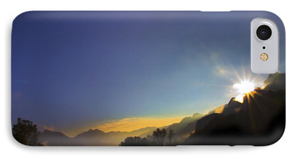 Sunrise On The Cajas Range Of The Andes IPhone Case by Al Bourassa